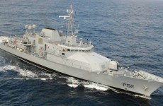 LÉ Niamh comes to the aid of capsized boat in Cork Harbour