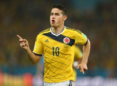 James Rodriguez was one of the stars of the 2014 World Cup.