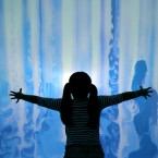 Strange Weather at The Science Gallery, in Trinity College Dublin, as Muireann Yuan (8) explores an interactive cloud screen,