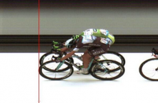 The Tour de France sprint finish was THIS close today