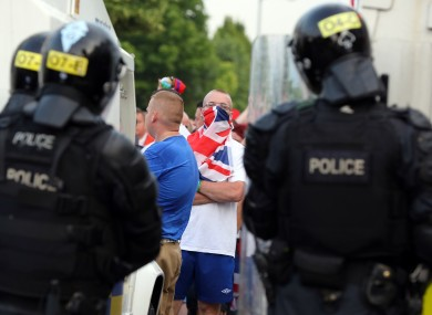 Unrest last year at a parade in north Belfast.