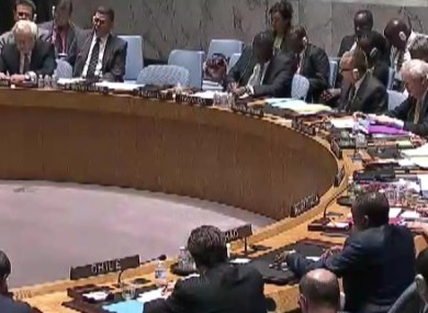 Un Security Council currently underway.