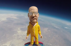 Someone launched a Walter White bobblehead into space, and the video is amazing
