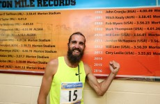 Bearded American wonder smashes 34-year-old mile record at Morton Stadium