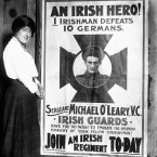 London's welcome to Sergeant Michael O'Leary, VC, of the Irish Guards: a poster produced with the aim of boosting enlistment in Ireland during the First World War.<span class=