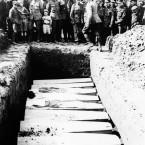 Burial of Canadian nurses killed in German air raid in an undated photo. (AP Photo)<span class=