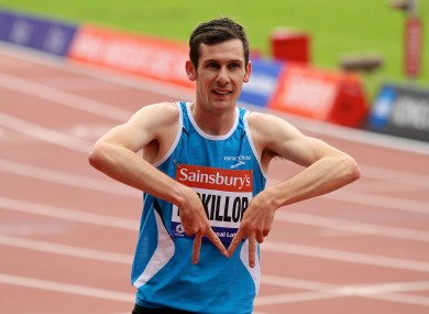 Michael McKillop today added a T38 1500m title to the T38 800m he won earlier in the week (file pic).