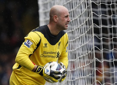 Reina has been with Liverpool since 2005.