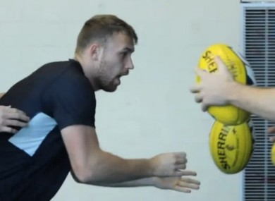 Sheehan is put through his paces in training.