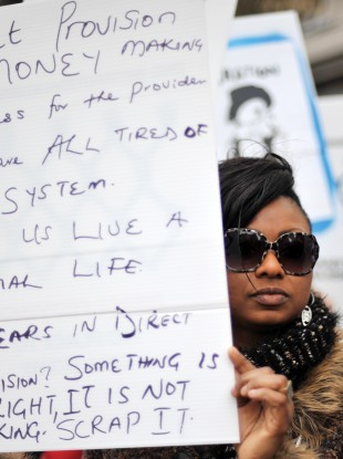 FILE: A protest against Direct Provision in Dublin