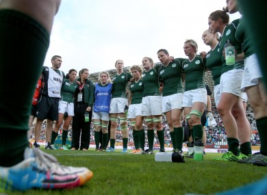 Ireland regather after their defeat to England earlier.