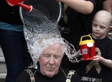 Dublin Lord Mayor Christy Burke was the latest politician to take the ice bucket challenge this week.
