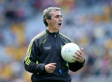Jim McGuinness did not talk to the media after the game.