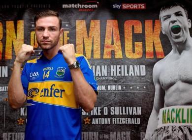 Matthew Macklin: called off the Dublin bout.