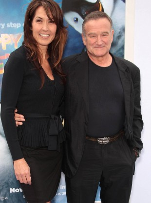 Robin Williams with his wife Susan Schneider in 2011.