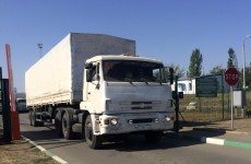 """Time for peace"" as Russian convoy returns from Ukraine"