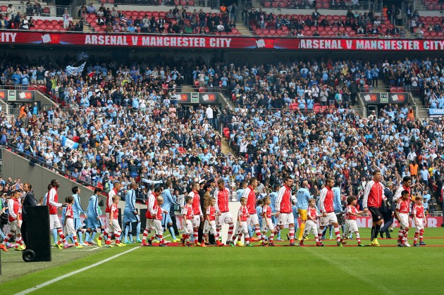 Soccer - Community Shield - Arsenal v Manchester City - Wembley Stadium
