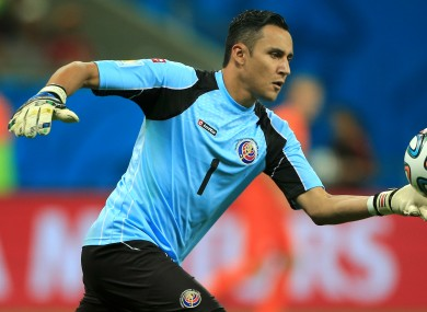 Navas in action at the World Cup.