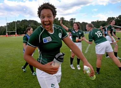 Spence celebrates Friday's win over the US.