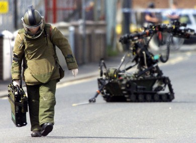 A bomb disposal expert in Northern Ireland (File photo)