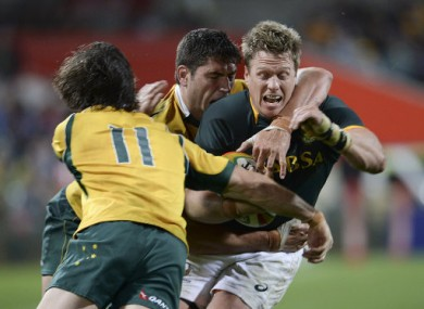 Rob Horne (11) was the hero for Australia in Perth earlier today.