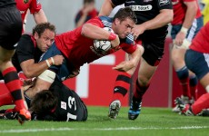 As it happened: Munster v Edinburgh, Pro12