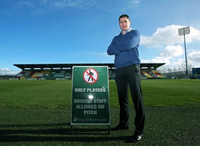 Shamrock Rovers reserve team manager Colin Hawkins.