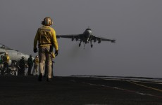US bombs Islamic State near Baghdad for first time