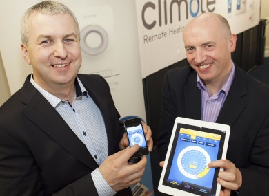 Climote's Derek Roddy, left, and Eamon Conway.