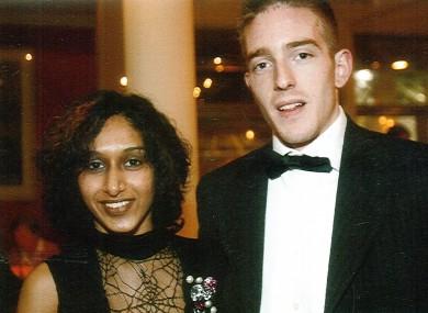 Dhara Kivlehan with her husband Michael.
