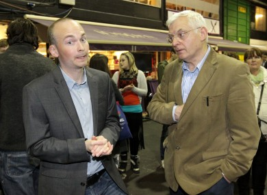 Paul Murphy, pictured with Socialist TD Joe Higgins.