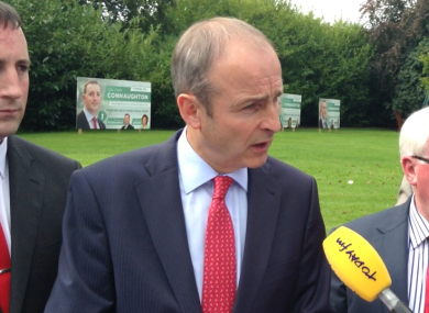 Michéal Martin, at the Abbey Hotel in Roscommon today.