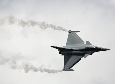 File photo of a Rafale jet fighter performing a demonstration flight.