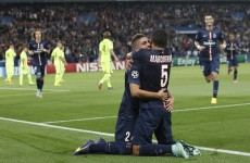 PSG's Marquinhos celebrated hurling-style after this brilliant block