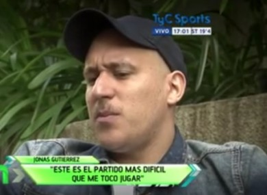Gutierrez appeared on Argentine TV.
