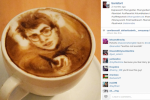 This guy's latte art is the best you'll ever see