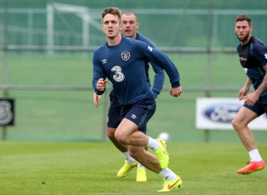 Kevin Doyle during today's training session in Malahide.