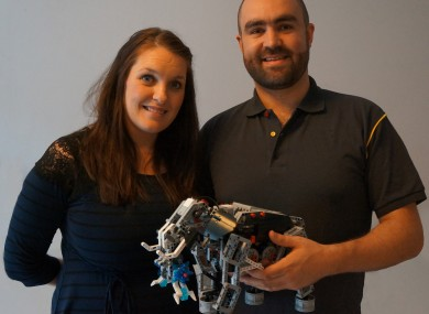 Ross and Pauline Maguire with one of their Lego creations.