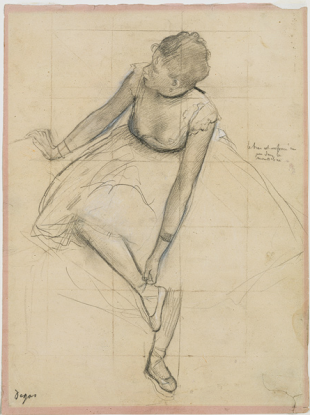 The painting stolen was one of a series of dancers by Degas. This drawing was part of that series - but not he piece of work taken.