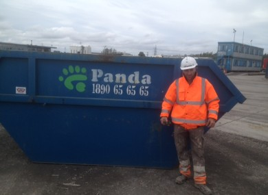 Panda Waste worker, Radu Hajdu, found the large sum of money in the skip.