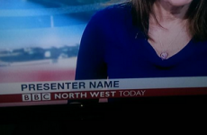 BBC graphic incorrectly identifies presenter as 'Presenter Name'