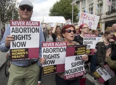 A pro-choice march in Dublin.
