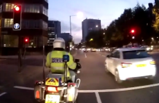 Worst driver ever jumps red light, gets instant comeuppance