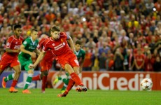 Last-gasp Gerrard penalty saves Liverpool in Champions League opener