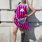 Street style at Somerset House during London Fashion Week.<span class=