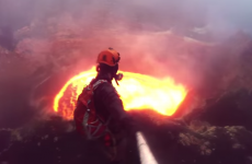 This man abseiled into an active volcano and has incredible GoPro footage to prove it