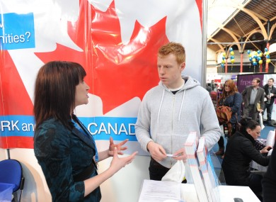The Canadian stand at a Working Abroad expo in the RDS