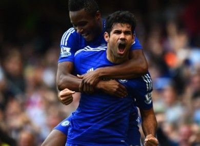 Costa has scored nine goals in seven matches this season.