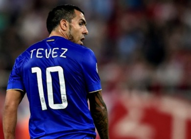 Tevez is included for the games next month.