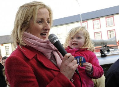 Áine Collins and daughter Lily